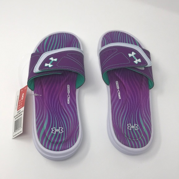 Under Armour Womens Flip Flops Size 6 Atlantic Dune Sandals 1252540-100 New UA